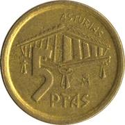 5 pesetas Asturias -  revers
