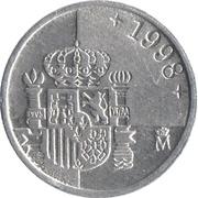 1 peseta Juan Carlos I lentille -  revers