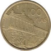 100 pesetas Bibliothèque nationale -  revers