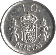 10 pesetas modèle 10 -  revers