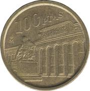 100 pesetas Musée du Prado -  revers