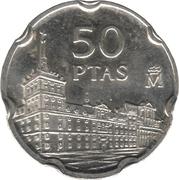 50 pesetas Juan de Herrera -  revers