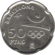 50 pesetas Casa Milà -  revers