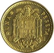 1 peseta Franco 2e effigie -  revers