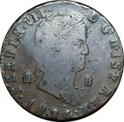8 maravedis Ferdinand VII 2ème portrait -  avers