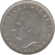 25 pesetas Juan Carlos I (étoile) -  avers