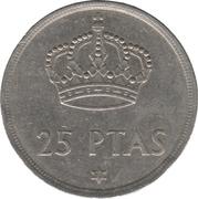 25 pesetas Juan Carlos I (étoile) -  revers