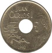 25 pesetas Juan Carlos I Séville '92 -  avers