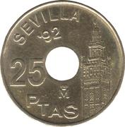 25 pesetas Juan Carlos I Séville '92 -  revers