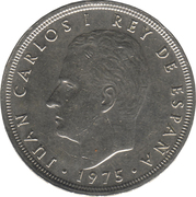 50 pesetas Juan Carlos I étoiles -  avers