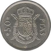 50 pesetas Juan Carlos I étoiles -  revers