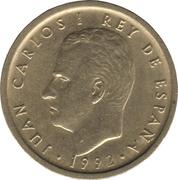100 pesetas modèle 100 pas de points -  avers