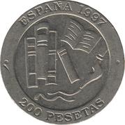200 pesetas Jacinto Benavente -  revers