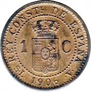 1 centimo Alphonse XIII cadet -  revers