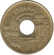 25 pesetas Navarre -  avers