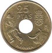 25 pesetas Navarre -  revers