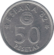 50 pesetas Juan Carlos I -  revers