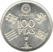 100 pesetas Juan Carlos I -  revers