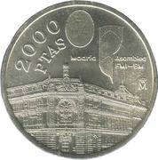 2000 pesetas Banque d'Espagne -  revers