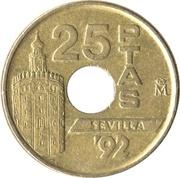 25 pesetas Séville '92 -  revers