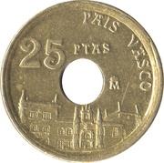 25 pesetas Pays basque -  revers