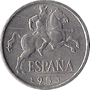 10 centimos Cavalier ibérique -  avers