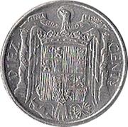 10 centimos Cavalier ibérique -  revers