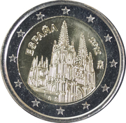 2 euros Cathédrale de Burgos -  avers