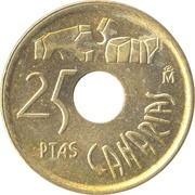 25 pesetas Canaries -  revers