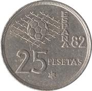 25 pesetas España 82 -  revers