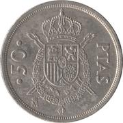 50 pesetas Juan Carlos I (M couronné) -  revers