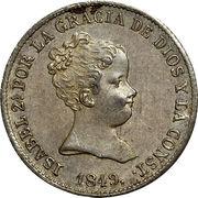 1 real Isabelle II 1er portrait -  avers