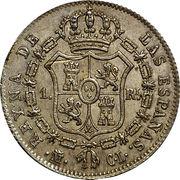 1 real Isabelle II 1er portrait -  revers