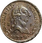 1 maravedi Charles III – avers