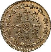 1 maravedi Charles III – revers