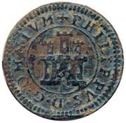 2 maravedis Philippe II frappe au balancier – avers