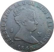 8 maravedis Isabelle II Isabelle II constitutionnel -  avers