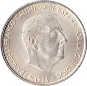 100 pesetas Franco -  avers