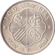100 pesetas Franco -  revers