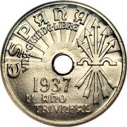 25 centimos (2e année du triomphe) -  avers