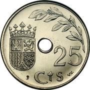 25 centimos (2e année du triomphe) -  revers