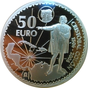 50 euros Christophe Colomb -  avers