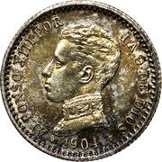 50 centimos Alphonse XIII cadet -  avers