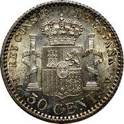 50 centimos Alphonse XIII cadet -  revers