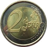 2 euros Parc Güell -  revers