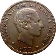 5 centimos Alphonse XII -  avers