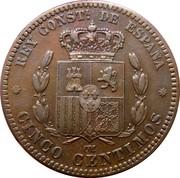5 centimos Alphonse XII -  revers
