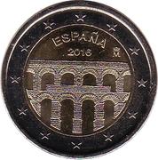 2 euros Aqueduc de Ségovie -  avers