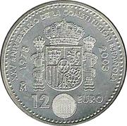 12 euros Constitution espagnole -  revers