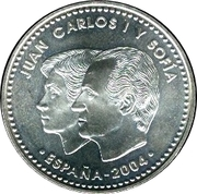 12 euros Mariage du prince Felipe avec Letizia -  avers
